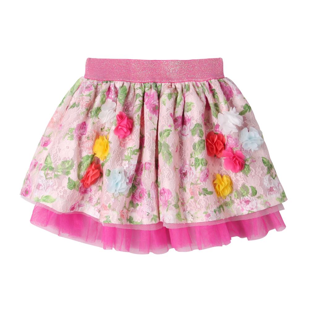 baby童衣 立體小碎花蕾絲網紗短裙 52240