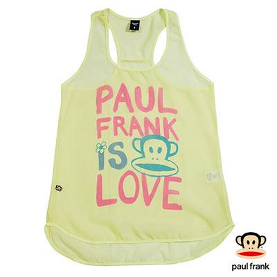 Paul Frank-雪紡無袖印花背心-淺黃(女)