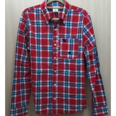 AF a&f Abercrombie & Fitch 長袖 襯衫 紅色 272
