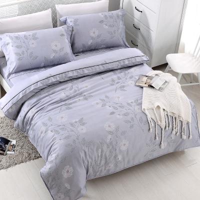 COOZICASA秋風葉語 雙人四件式吸濕排汗天絲兩用被床包組