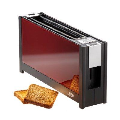 德國原裝 ritter volcano 5 晶湛強化玻璃烤麵包機(紅)