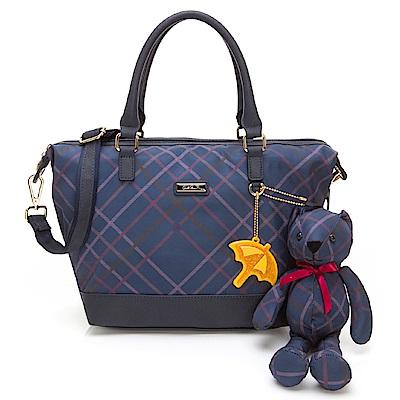 Arnold Palmer- 2WAY手提包 Bag&Bear B & B 系列-藍色