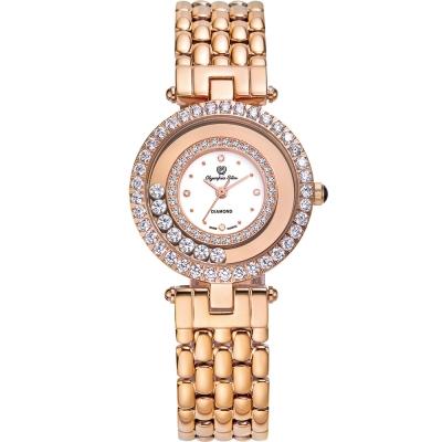 奧林比亞之星 Olympia Star 星空幻影真鑽時尚腕錶-玫瑰金 28019DLR
