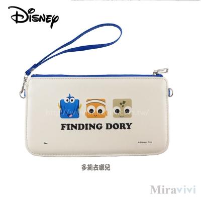 Disney迪士尼皮質橫式手機袋/萬用包/手腕袋_方塊系列_多莉去哪兒