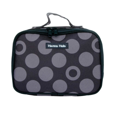 【Hanna Hula 日本】多用途隨身包-裝化妝品/衣物/當媽媽包裝尿片等(黑灰點)