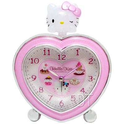 Hello Kitty甜美心型超靜音貪睡鬧鐘 JM-E540KT