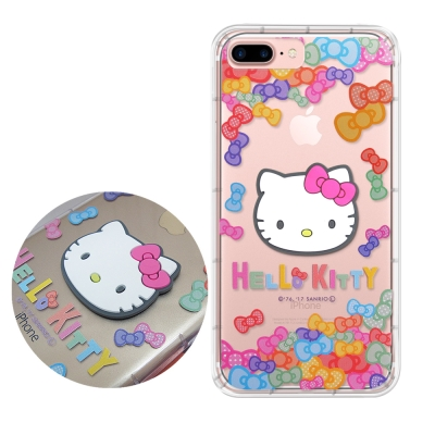 正版授權Hello Kitty iPhone 7 Plus立體大頭空壓手機殼(七...