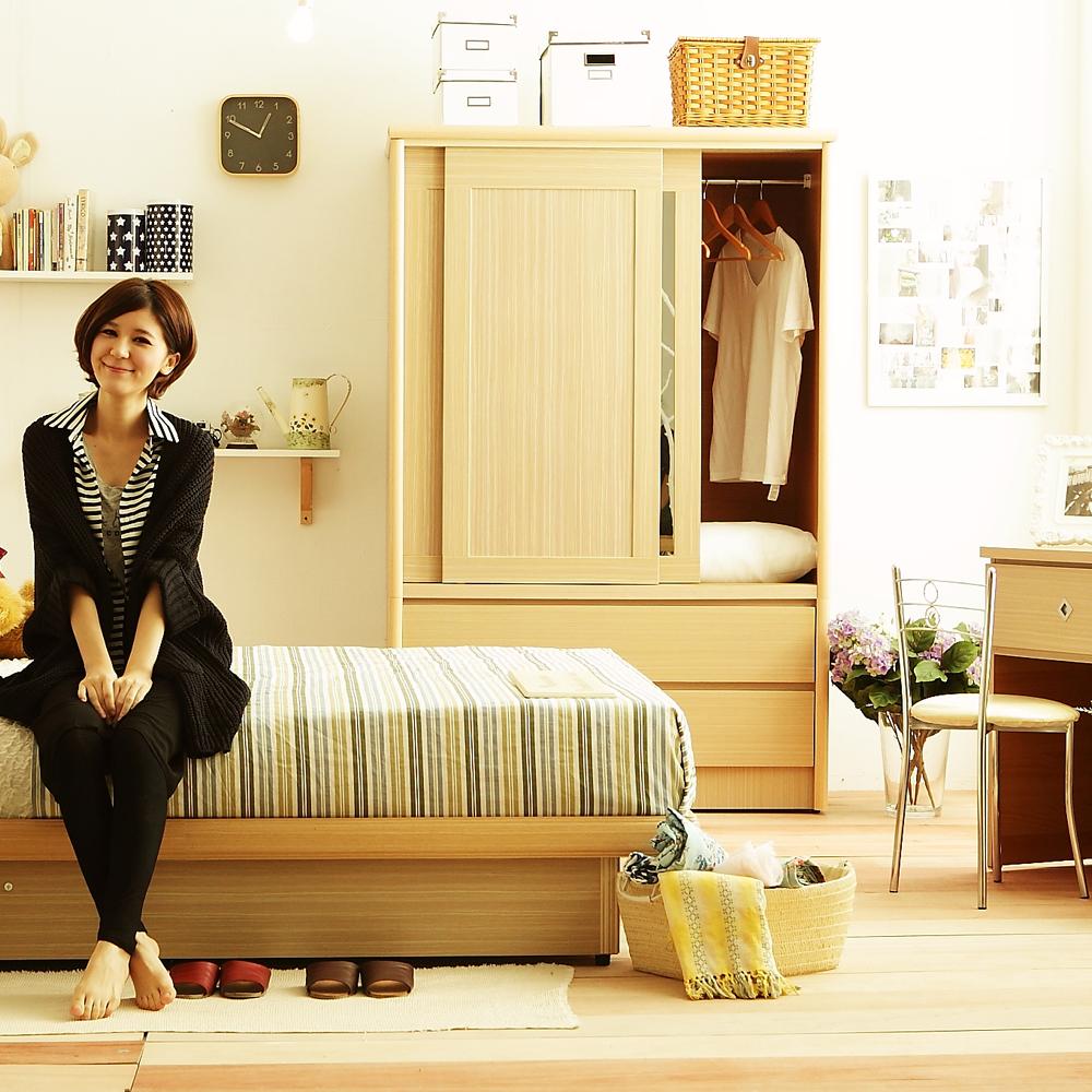限時特賣 愛比家具 甜蜜居家系列白橡色雙人臥室六件組