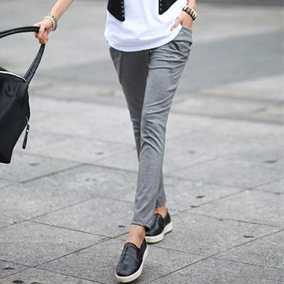 造型大口袋特殊剪裁棉褲-共四色-N-C21