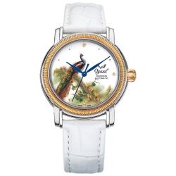 Ogival瑞士愛其華  搪瓷彩繪自動機械錶-孔雀/37mm