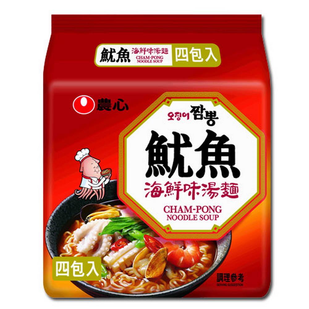 農心 魷魚海鮮味湯麵(124gx4入)