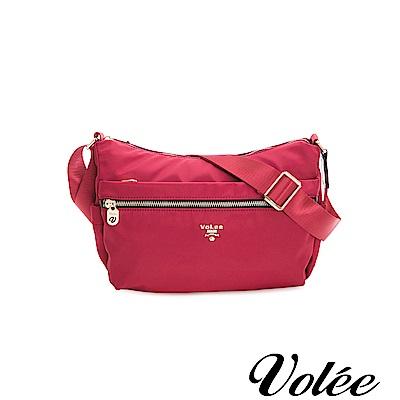 Volee飛行包 - 好旅行系列拉鍊肩背包-美國紅