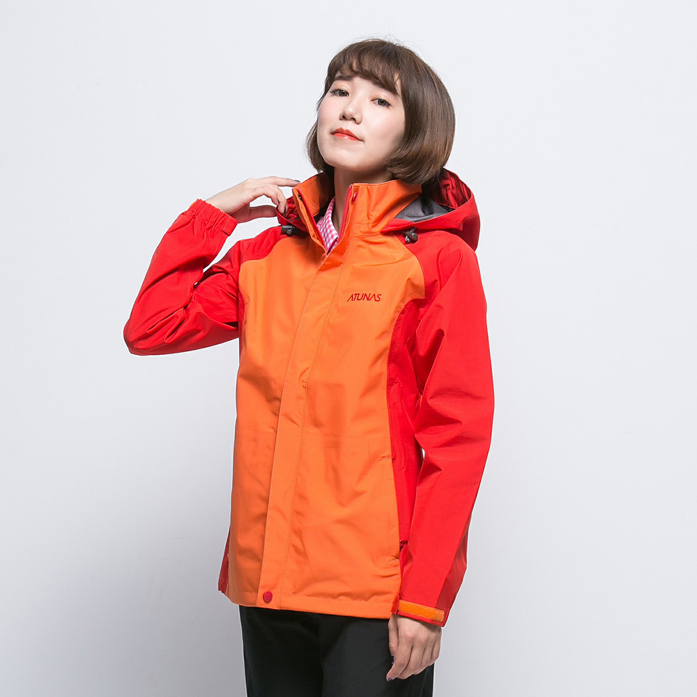 【ATUNAS 歐都納】女款防水GORE-TEX單件式外套A3-G1516W柑紅