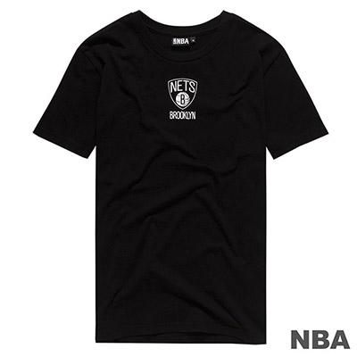 NBA-布魯克林籃網隊前後印花短T-黑 (男)