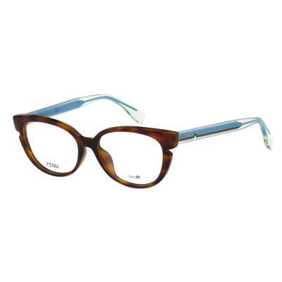 FENDI 小貓眼光學眼鏡 (琥珀色)FF0143F