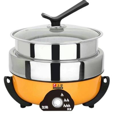SUNHOW 上豪 3.5L不鏽鋼三層火烤料理鍋EC-3560