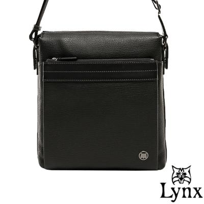 Lynx - 山貓真皮經典款極品型男直式斜背包(大)-共2色