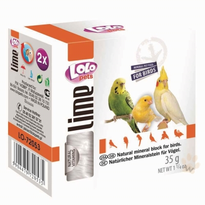 LoLo 鳥類礦物質磨牙石(原味)35g 2入