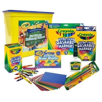 美國crayola 繪兒樂 小學生創意彩繪超值組(5Y+)
