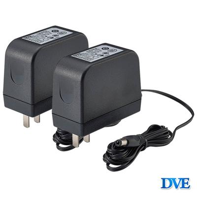 【CHICHIAU】DVE監視器攝影機專用電源變壓器 DC 12V 2A(2入)