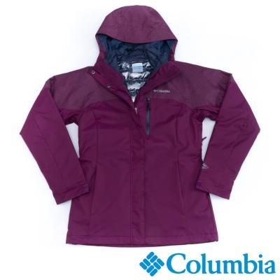 Columbia哥倫比亞  女款-防水羽絨兩件式外套-暗紫色 UWK00740DL