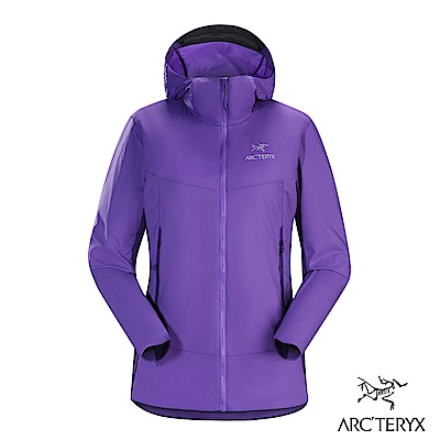 Arcteryx 女 Atom SL 化纖保暖連帽外套 木槿紫