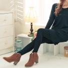 中大尺碼 時尚無縫美體點點內搭褲-La Belleza