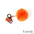 法國時尚Lipault 澎澎毛球掛飾 (橘紅)