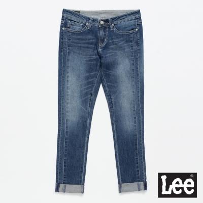Lee 牛仔褲 329  低腰合身窄管牛仔褲/DC-女款-藍