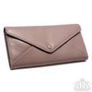 2R 風信牛皮Mailer造型設計手拎長夾 芋泥紫