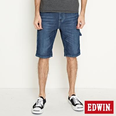 EDWIN 迦績褲JERSEYS角袋工作短褲-男-石洗綠