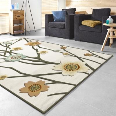 范登伯格 - 維拉 現代絲質地毯 - 含苞 (160 x 230cm)