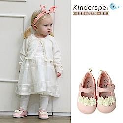 Kinderspel 輕柔細緻.郊遊趣休閒學步鞋(花朵_櫻桃果果園)
