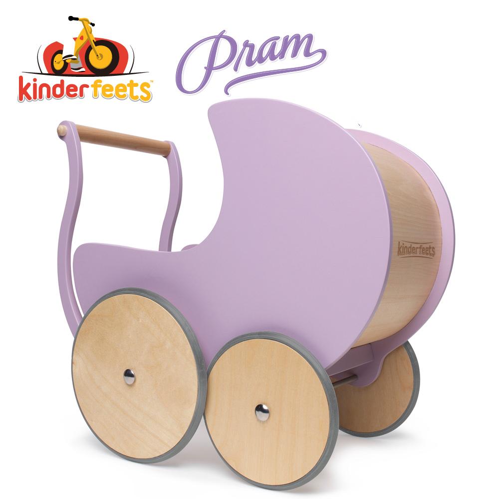 Kinderfeets 美國木製平衡滑步教具車_初心者南瓜馬車系列 (粉紫)-聖誕禮物