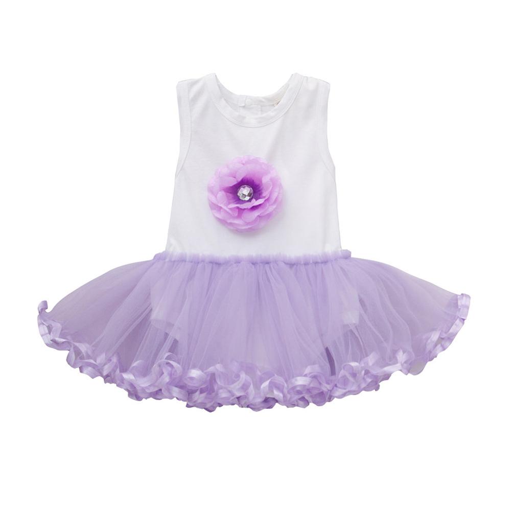 baby童衣 包屁衣 女寶寶紫色紗裙連身衣 32163