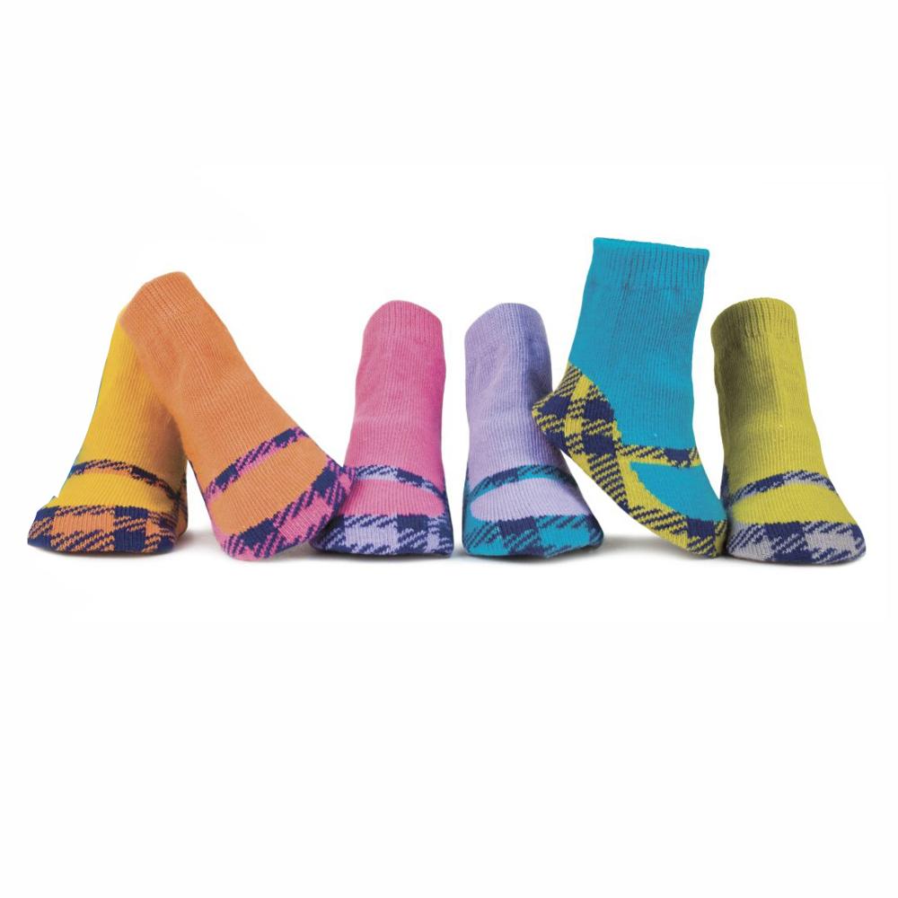 Trumpette 格紋瑪莉珍鞋款襪(0-12M)
