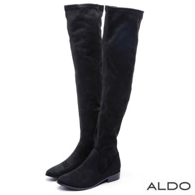 ALDO 長腿旋風原色幾何拼接膝上靴~尊爵黑色