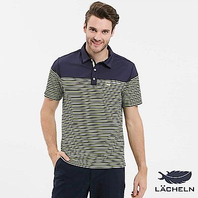 【LACHELN】Coolmax 快乾抗UV條紋POLO衫(S72M903)