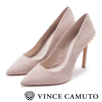 Vince Camuto 女神款尖頭個性鉚釘高跟鞋-絨粉