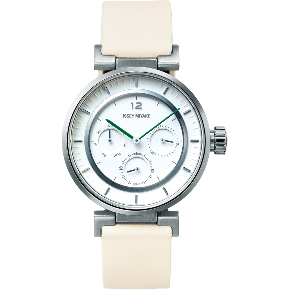 ISSEY MIYAKE W mini系列日曆手錶(NYAB001Y)-39mm