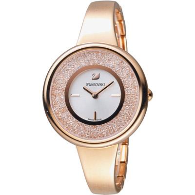 施華洛世奇SWAROVSKI Crystalline系列璀璨耀眼魅力腕錶-玫瑰金色/34m
