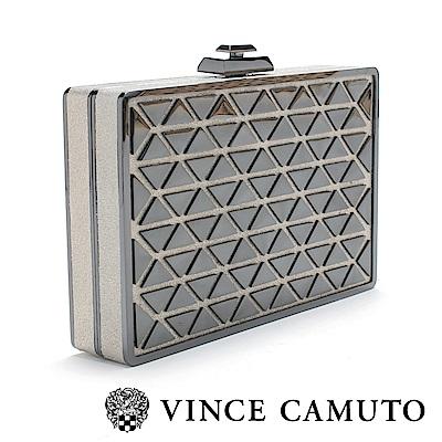 Vince Camuto 奢華幾何派對手拿包-銀色