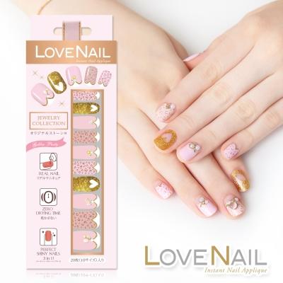 LOVE NAIL 持久指甲油貼 水鑽珠寶盒系列 粉豹金采派對