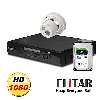 Elitar4路監控主機Sony單鏡頭1TB監控鷹