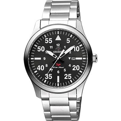 ORIENT 東方錶 SP 系列 飛行運動石英錶-灰x銀/42mm