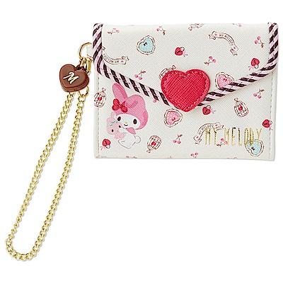 Sanrio SANRIO明星甜蜜愛心系列PU皮革情書造型票夾包(美樂蒂)