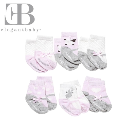 Elegant Baby 6入襪子禮盒-可愛動物