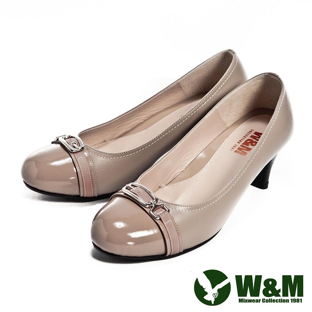 W&M 完美比例中跟鞋-卡其