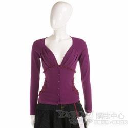 BLUMARINE-ANNA MOLINARI 紫色長袖抓皺小外套