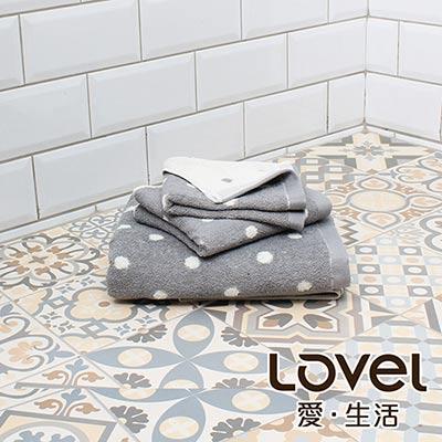 Lovel 專利咖啡紗除臭抗UV圓點3件組(浴巾+毛巾+方巾)